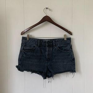 Free People Denim Cut Off Shorts Button Fly Sz 28
